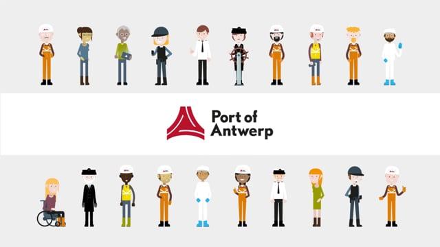 Brand video for Port Of Antwerp - Motion Design