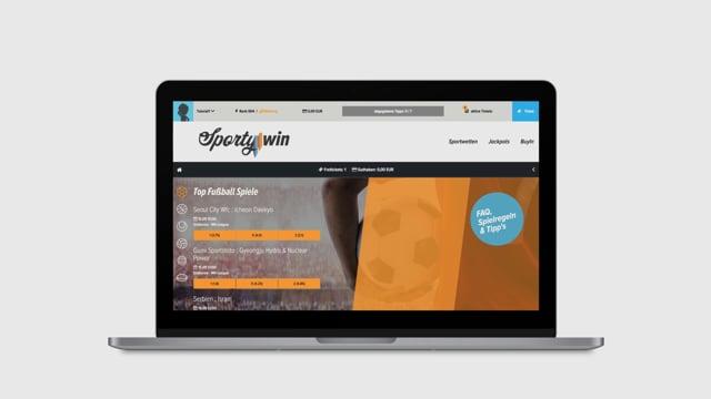 Sportywin Wettplattform - Webanwendung