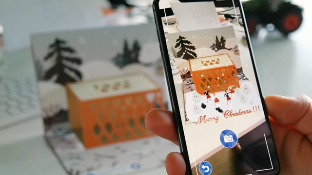 Augmented Reality Christmas Card - Application mobile
