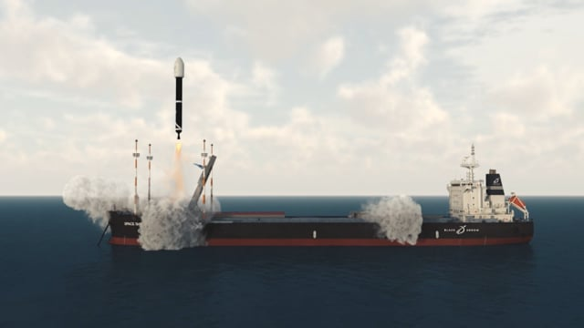 Black Arrow Seabourne Rocket Launch - 3D