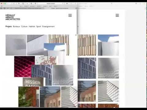 Création du site web d'une agence d'architecture - Création de site internet