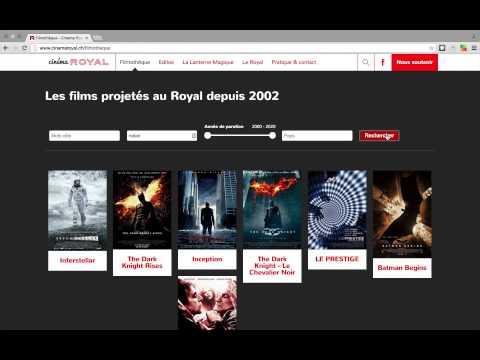 cinemaroyal.ch - Création de site internet