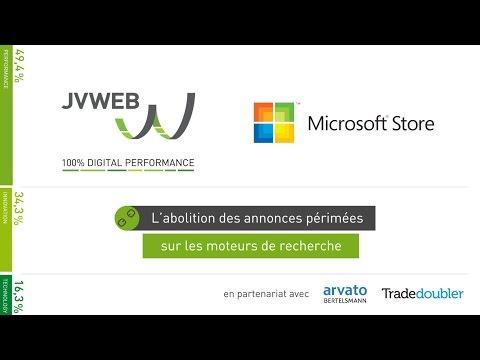 JVWEB sacré Roi du Search 2015avec Microsoft Store - Publicité en ligne
