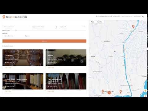 Développement d'un site web pour Tousmescommerces - Création de site internet