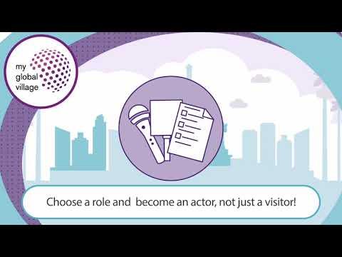 Vidéo motion design pour My global village - Animation
