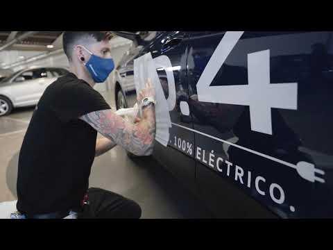 Rotulación Nuevo ID.4 para el Ecorallye. - Publicidad