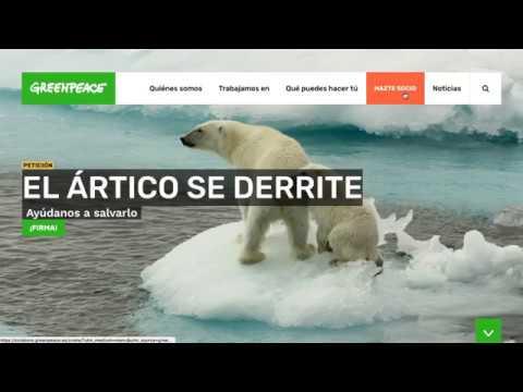Greenpeace Spain Site - Creación de Sitios Web
