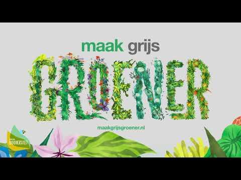 Campaign about biodiversity: Maak grijs groener - Public Relations (PR)