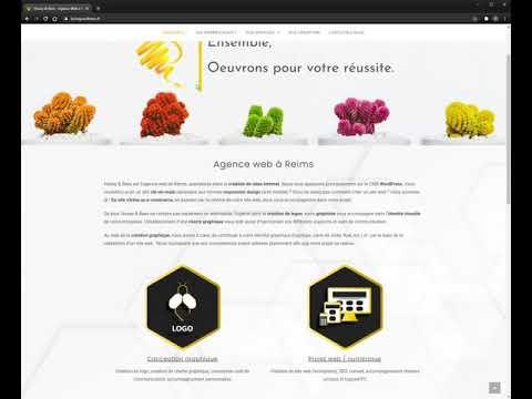 Refonte du site Honey & Bees - CMS Wordpress - Création de site internet