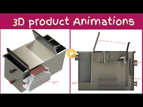 3D Animation for grease interceptor Manual and Aut - Movie